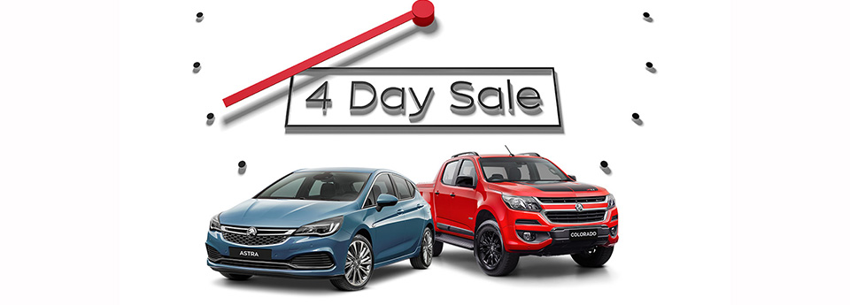 Holden 4 Day Sale Web Banner